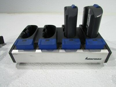 INTERMEC AC1 BATTERY CHARGER WITH 2 BATTERIES 852-904-002 - 4 Port Charger only