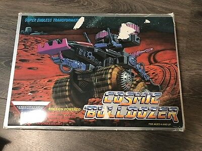 1980s Silverlit Toys Multimac Cosmic Bulldozer Friction Toy MIB Vintage
