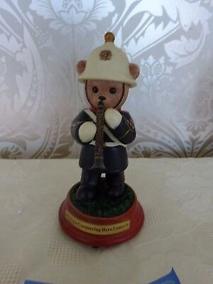 Hamilton Faithful Fuzzies Bear Figurine Musical See The Conquering Hero Comes