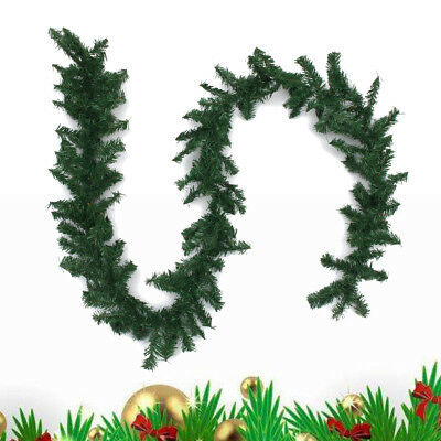 2.7m Long Green Christmas Garland Pine Wreath Xmas Fireplace Tree Decor Ornament