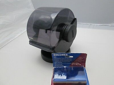 Large Swivel Base Rolodex A-Z Index With 50 Card Protectors