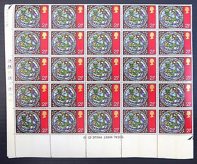 GB 1971 Xmas 2½p Complete Sheet of 100 AC511