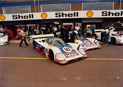 Aston Martin Sports Cars 18T & 19 In Pits Colour Photograph.