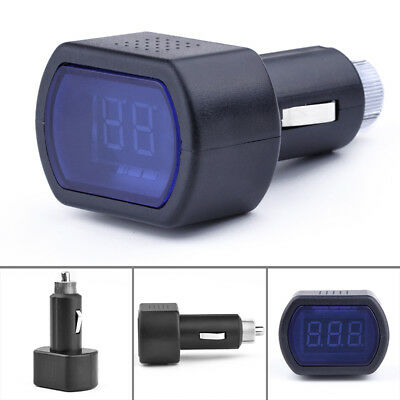 LED Car Battery Electric Cigarette Lighter Voltmeter Voltage Meter Gauge Tester