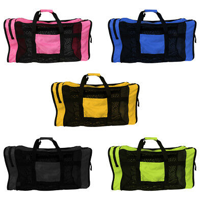 Portable Swimming Storage Carry Mesh Bag for Diving Scuba Snorkel Gear