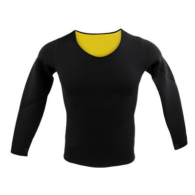 Long Sleeve Thermo Exercise Gym Sauna Suit Body Shaper Neoprene Shirt Top S