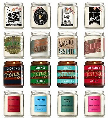 NEW!!! Bath and body works Medium 1 wick scented candles NEWEST SCENTS
