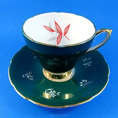 Pretty Teal Green Sutherland Tea Cup and Saucer Set