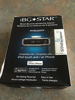 NEW AND SEALED iBG Star Blood Glucose Monitoring System 8313-2600-01