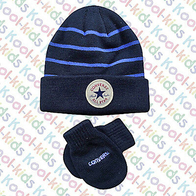Converse Chuck Taylor Baby Boys Hat & Mittens BNWTS