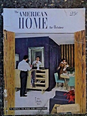 The American Home Magazine  October 1948    VINTAGE ADS
