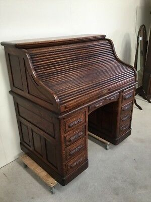 Antique Victorian Roll Top Desk S Type Stunning Example One Of The Best For Sale