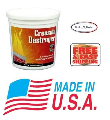 NEW Meeco's Creosote Destroyer Powder Fireplace Chimney Build Up Remover Cleaner
