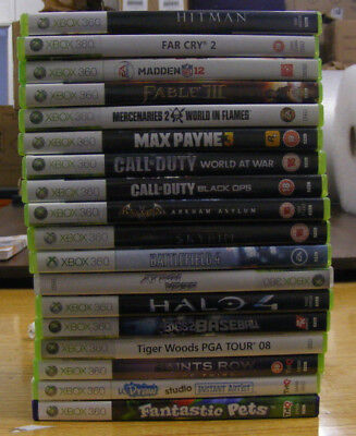 Xbox 360 games collection