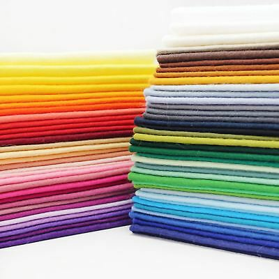 Wool Mix Felt Sheet 9x9 inch  1mm Thick Fabric 71 Colours Crafts Toy Bear Making
