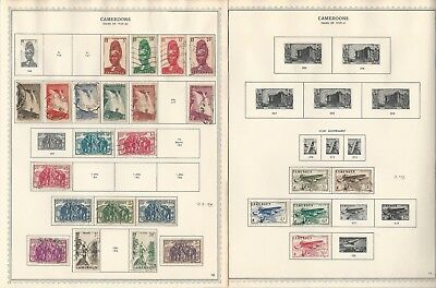Cameroun Collection 1915-1976 on Minkus Speciatly Pages, Around 50 Pages