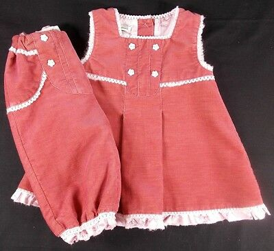 Name It baby girl dress bloomers outfit set soft cord 0-3 month