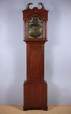 Antique 19th.c. Welsh Brass Longcase Clock With Moving Eyes c.1810