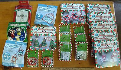 Lot of 18 CHRISTMAS CRAFT KITS, Decorations, Keychains, Beads