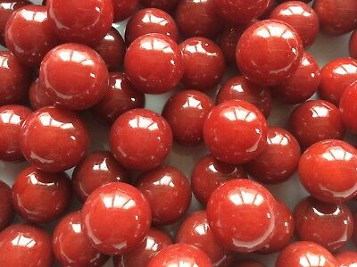 25 x 14mm CHERRY RED GLASS MARBLES  game play solitaire party bags
