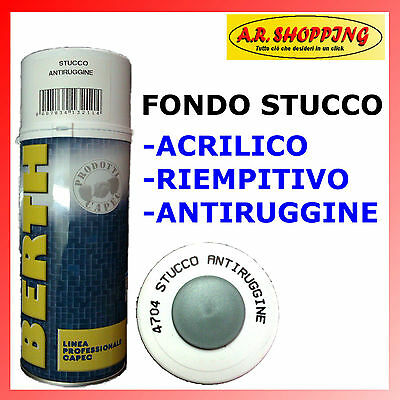 Fondo Stucco Spray 400Ml Antiruggine - Riempitivo - Carrozzeria Auto Moto Acrili