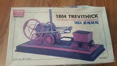 1/38 scale ACADEMY 1804 TREVITHICK WORLDS 1ST STEAM LOCO, plastic kit