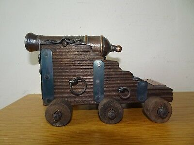 Spanish Cannon Gun wooden carriage
