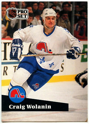 Craig Wolanin Nordiques Pro Set Prototype Preview 1991-2 Ice Hockey Card (C533)*