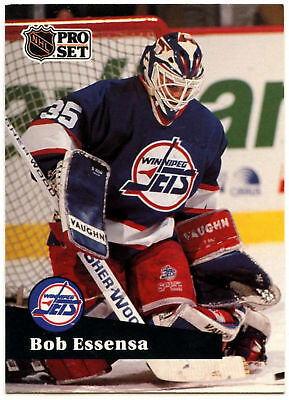 Bob Essensa Pro Set Prototype Preview 1991-2 Ice Hockey Card (C533)