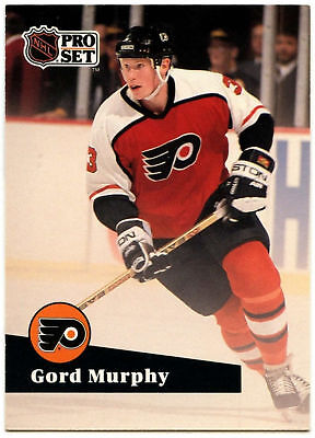 Gord Murphy Flyers Pro Set Prototype Preview 1991-2 Ice Hockey Card (C533)