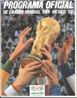Mexico 1986 World  Cup Programme - Official Version