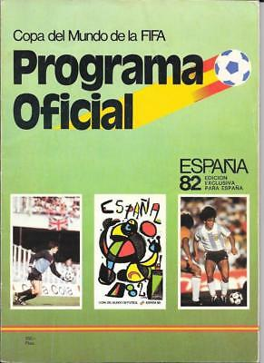 Espana 1982 World  Cup Programme - Official Version