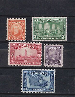 1927 Sc 141/5 set 60th anniv.of the confederation,       k1506