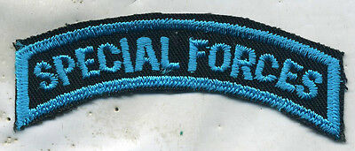 Vintage US Army SPECIAL FORCES COLOR Tab Patch Cut Edge