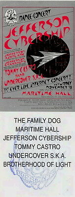 Jefferson Cybership 1995 Tour Unused Maritime Hall Ticket