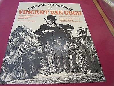 "Victoria & Albert Museum-1975-poster,""English Influences on Vincent Van Gogh! """