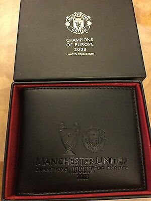 manchester united wallet 2008 Moscow champions of Europe boxed mint