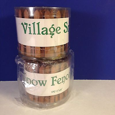 LOT of 2 Dept 56 Heritage VILLAGE SNOW FENCE Wood Picket NEW! Combine Shipping!