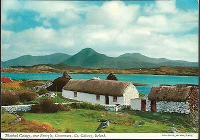 Renvyle, Connemara, Co. Galway - Thatched cottage - classic John Hinde postcard