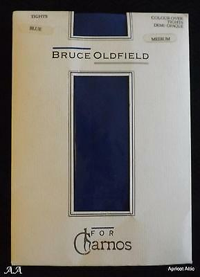 Vintage BRUCE OLDFIELD for CHARNOS Electric Blue Tights Medium Demi-Opaque BNIP