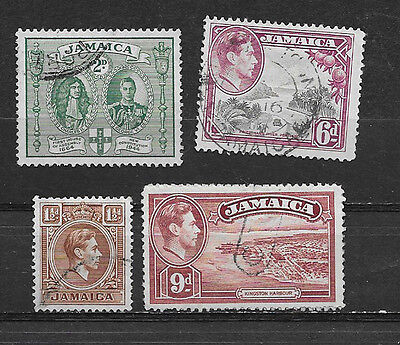 Jamaica , King George Vi, Set Of 4 , Perf , Used
