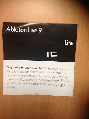 Ableton  live 9 Lite Serial software code