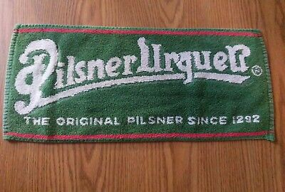 (Look) Pilsner Urquell beer bar pub cloth towel game room man cave