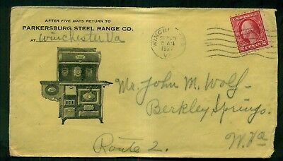 1922 Parkersburg Steel Range Co. Advertising Cover - Winchester,VA