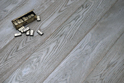 Engineered Grey Oak Brushed and Oiled Click Lok 185mm x 13.5/3mm Wood Flooring