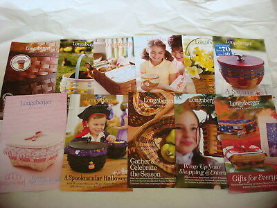 Longaberger 2 Catalogs and 11 Flyers FOR THE WHOLE YEAR of 2008 in one place NEW