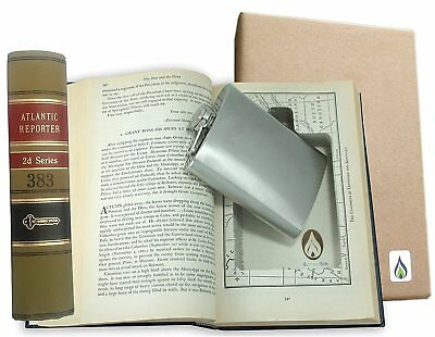 SneakyBooks Recycled Law Book Hidden Flask Diversion Safe flask included