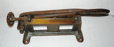 Antique United Shoe Machinery Company Canada Leather Scarfing Sciving Tool 1914