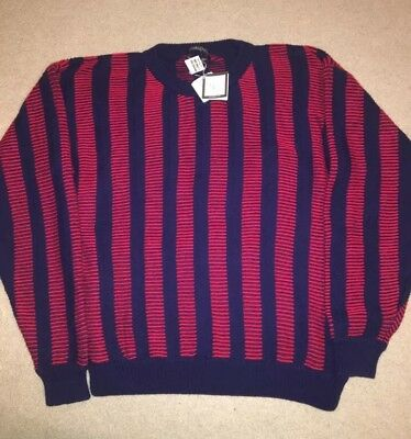 New Vintage Christian Dior Monsieur Le Connaisseur Striped Textured Sweater L