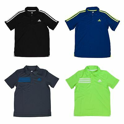 Adidas Short Sleeve Athletic Polo Shirt for Boys - 3 Button Placket
